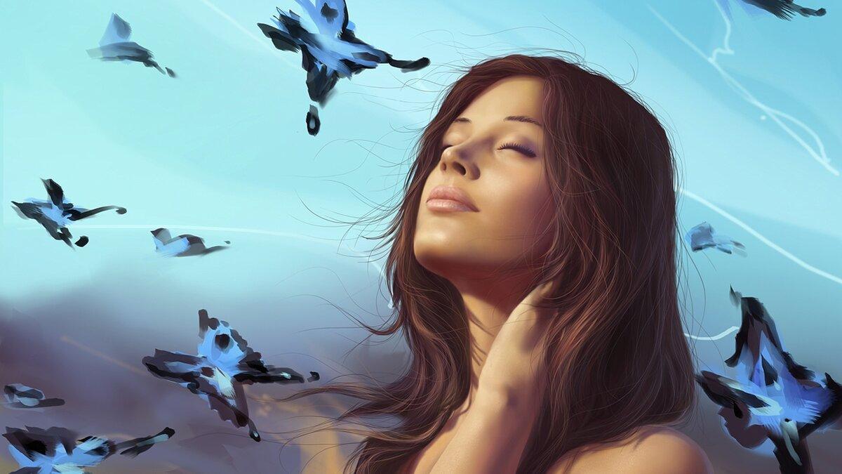 Картинки женщина мечтает