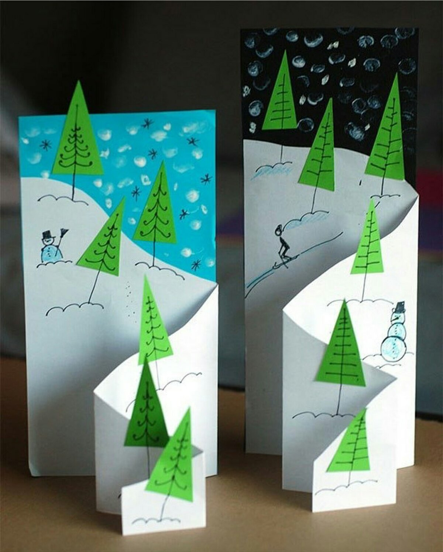 Объемная открытка с елкой из бумаги, гиацинтами картинки сластены