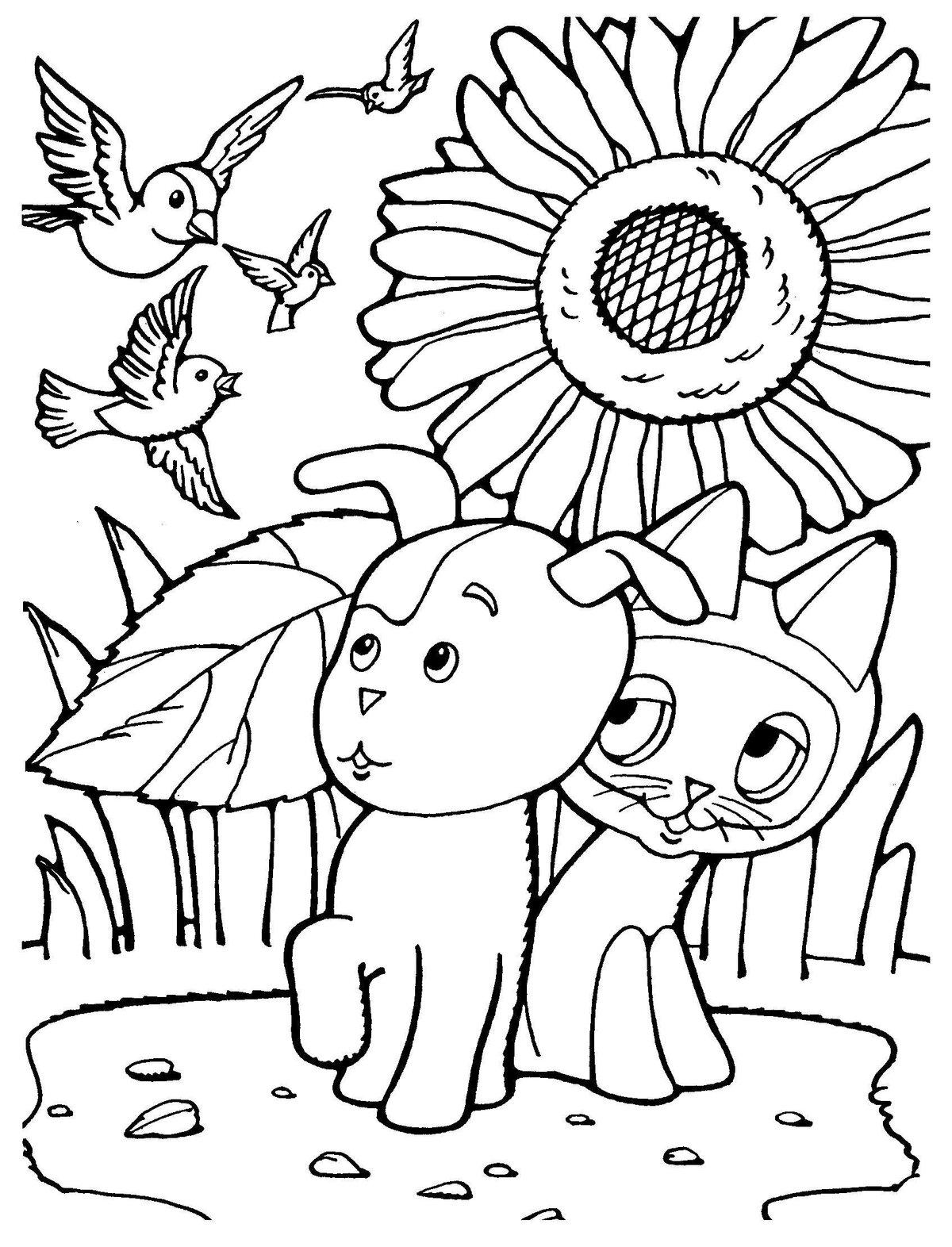 «Раскраска котенок по имени Гав. Распечатать картинки для ...