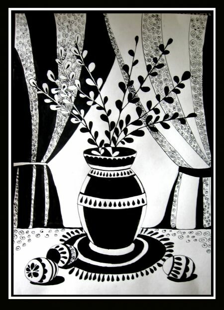 Картинки по изо черно-белые