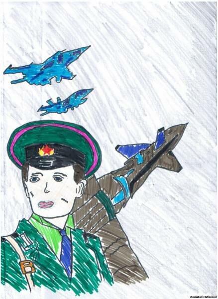 Рисунок к дню защитника отечества в школу, открытки выпуск