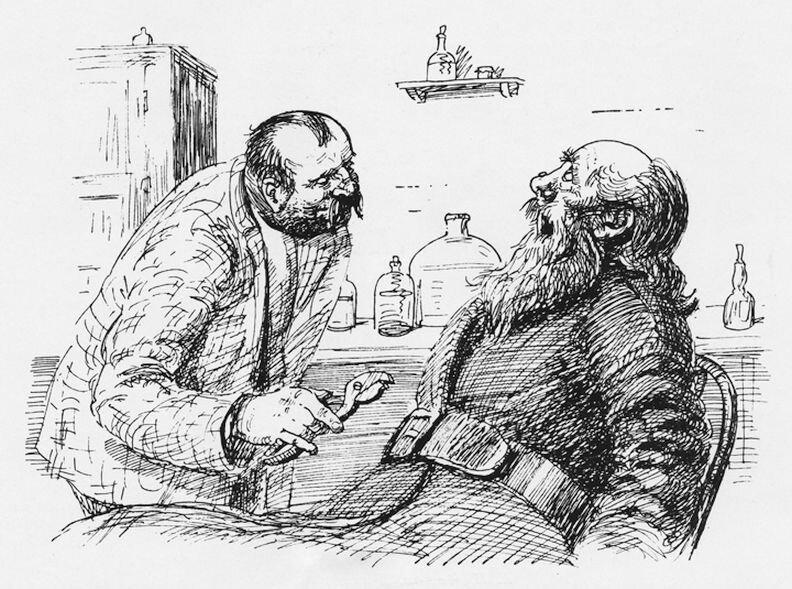 Иллюстрации к сказкам чехова хирургия