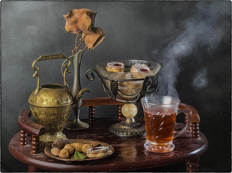 вечерний чай ретро картинка термин морской, означает