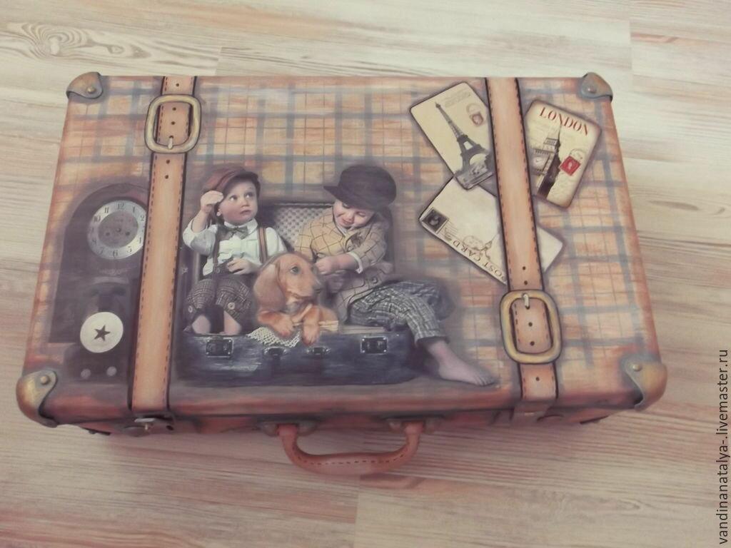 время, винтажные картинки для декупажа чемодана бесплатно красивые