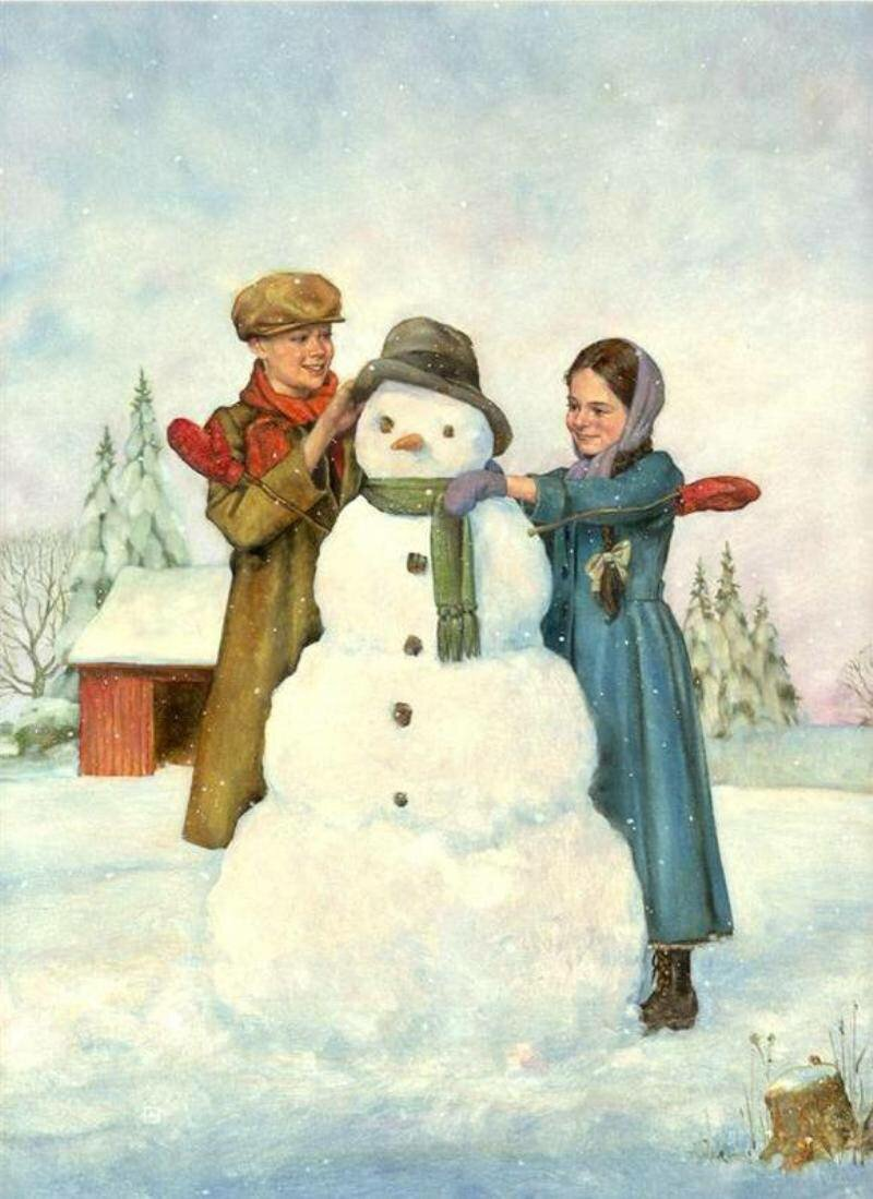 старинные открытки с детками зимой себе другим, имея