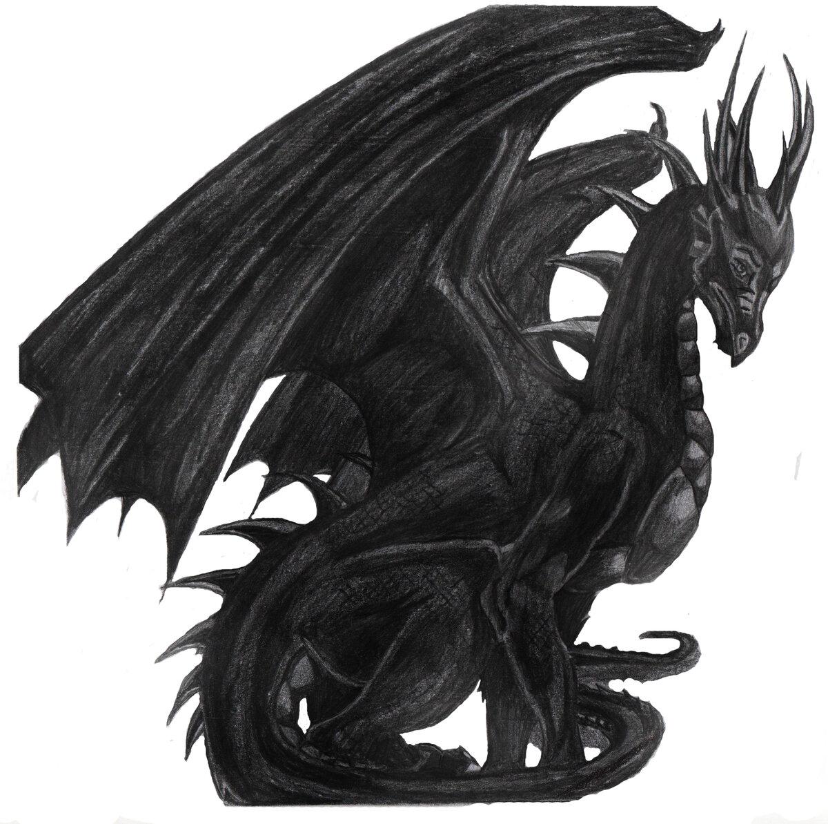 Картинка с черным драконом