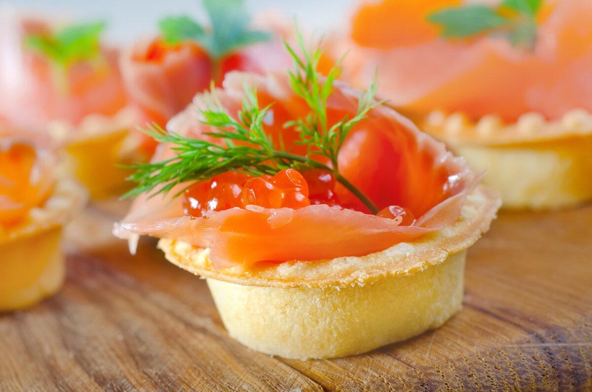 Тарталетки с красной рыбой и икрой рецепты с фото