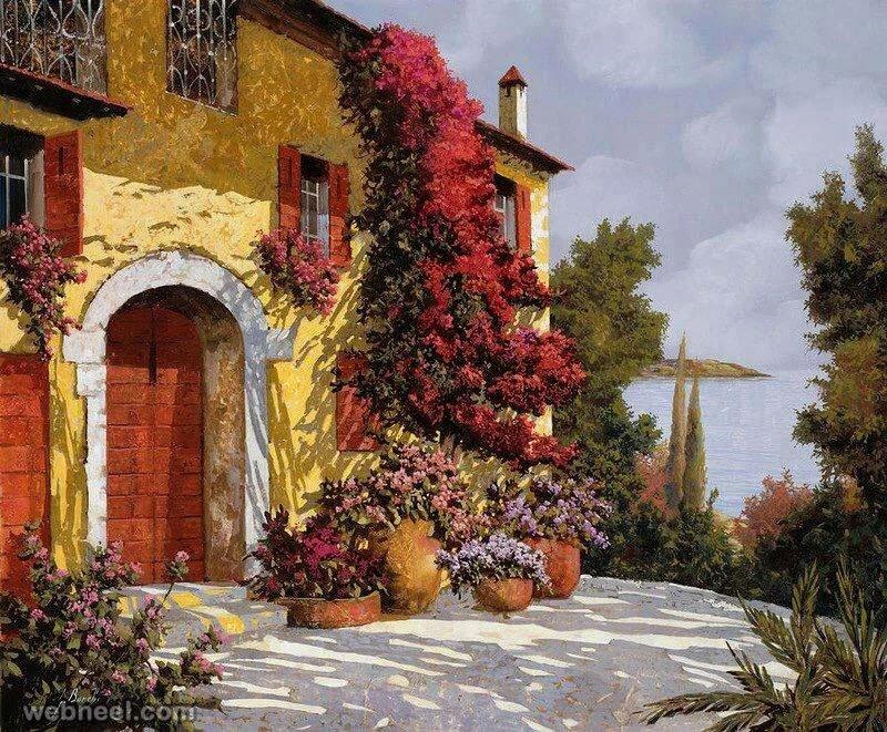 Итальянский дворик в картинках