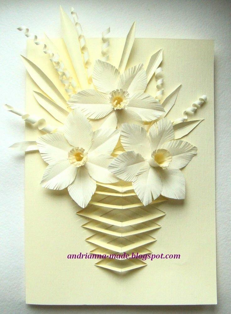 Цветов, открытка своими руками на 8 марта для учительницы