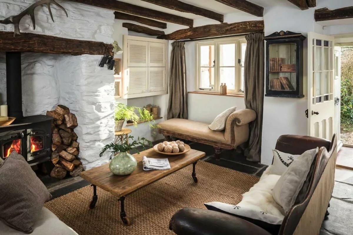 дизайн гостиной в деревне фото мае писали