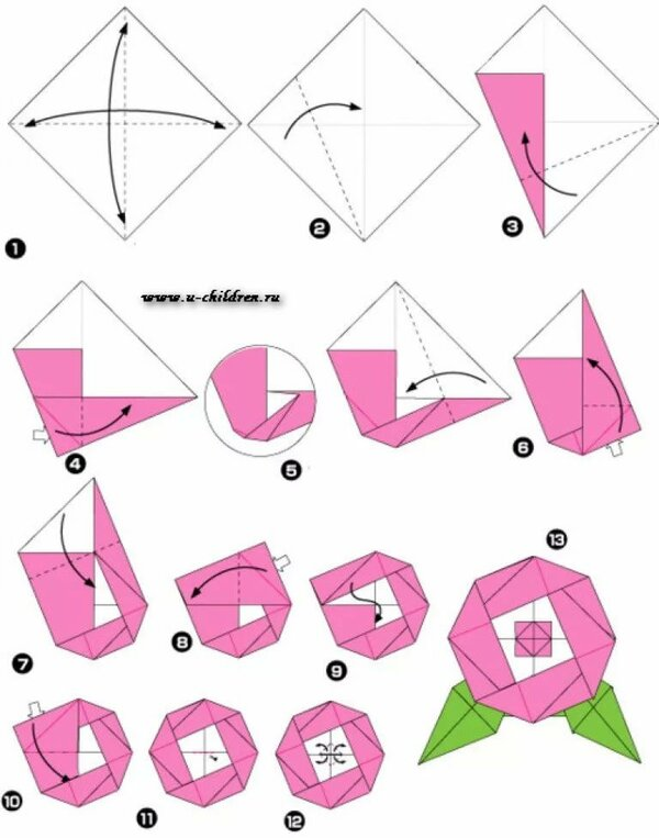 картинки как делать поделки оригами фасон