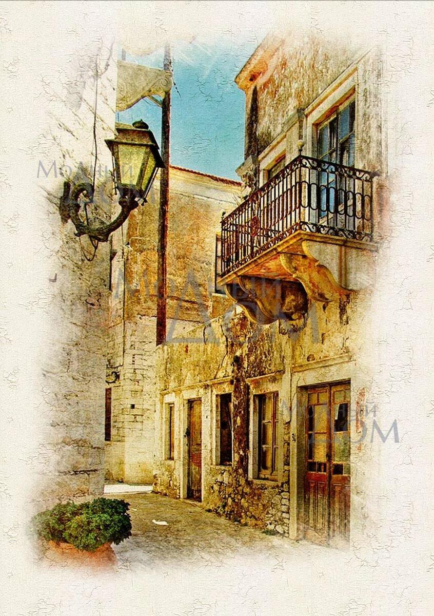 Картинка с фонарем старый город, сохранить