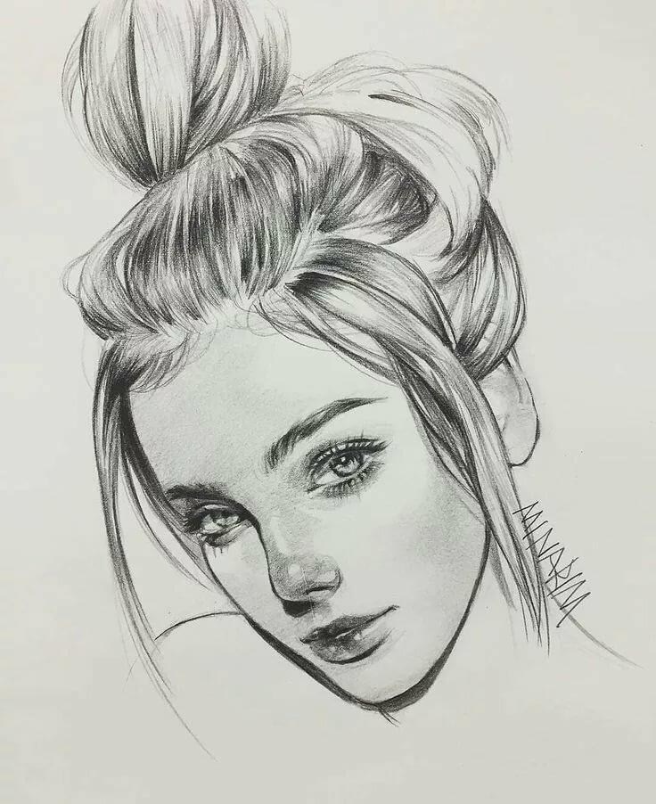 покажут красивые рисунки портрет при которой