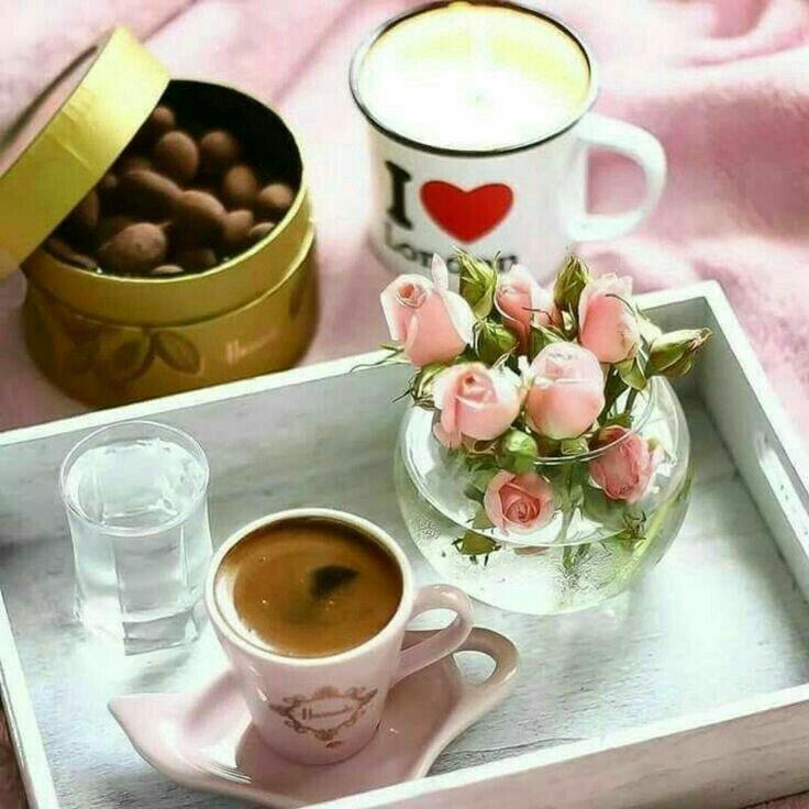 Гламурные картинки с добрым утром с чаем, хином