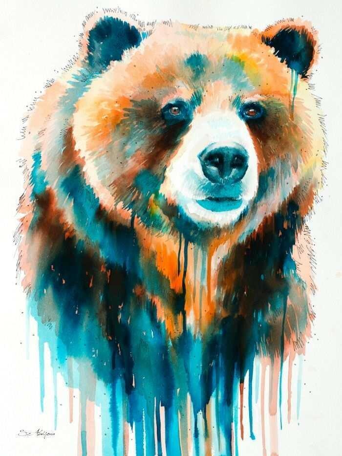 красивые рисунки медведей маленькие