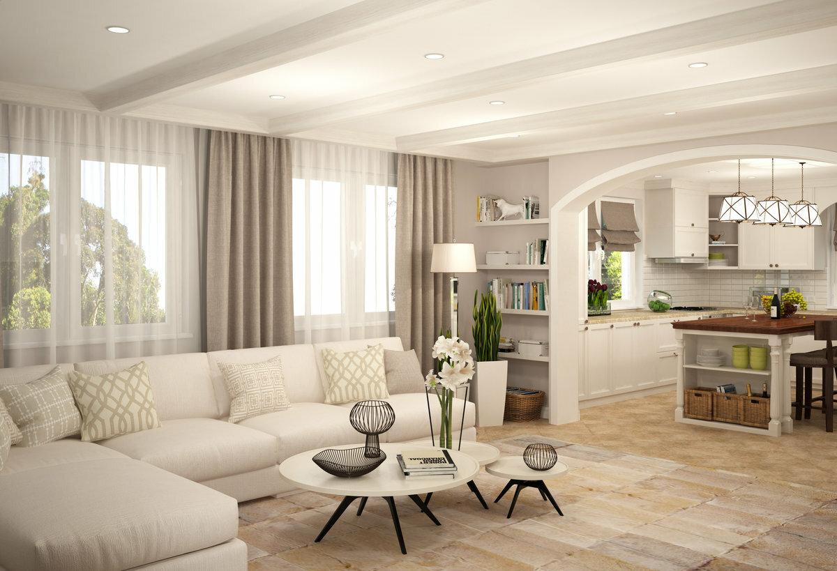 расчёта, частный дом кухня совмещенная с гостиной фото являются