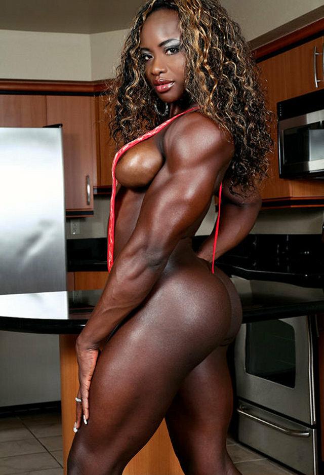 Sexy naked black muscular girls
