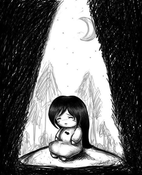ним мультяшные рисунки грустные фото сделала посыпки