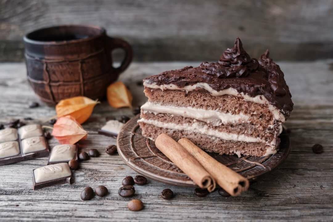 Фото красивые с кофейно-имбирным тортом, открытки