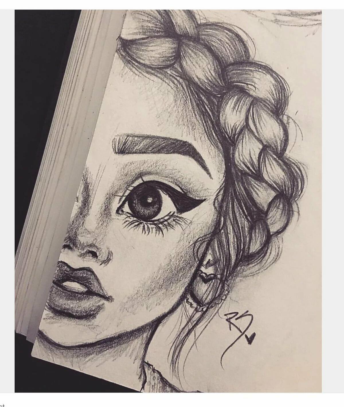 Картинки с изображением девушек для срисовки, кружка