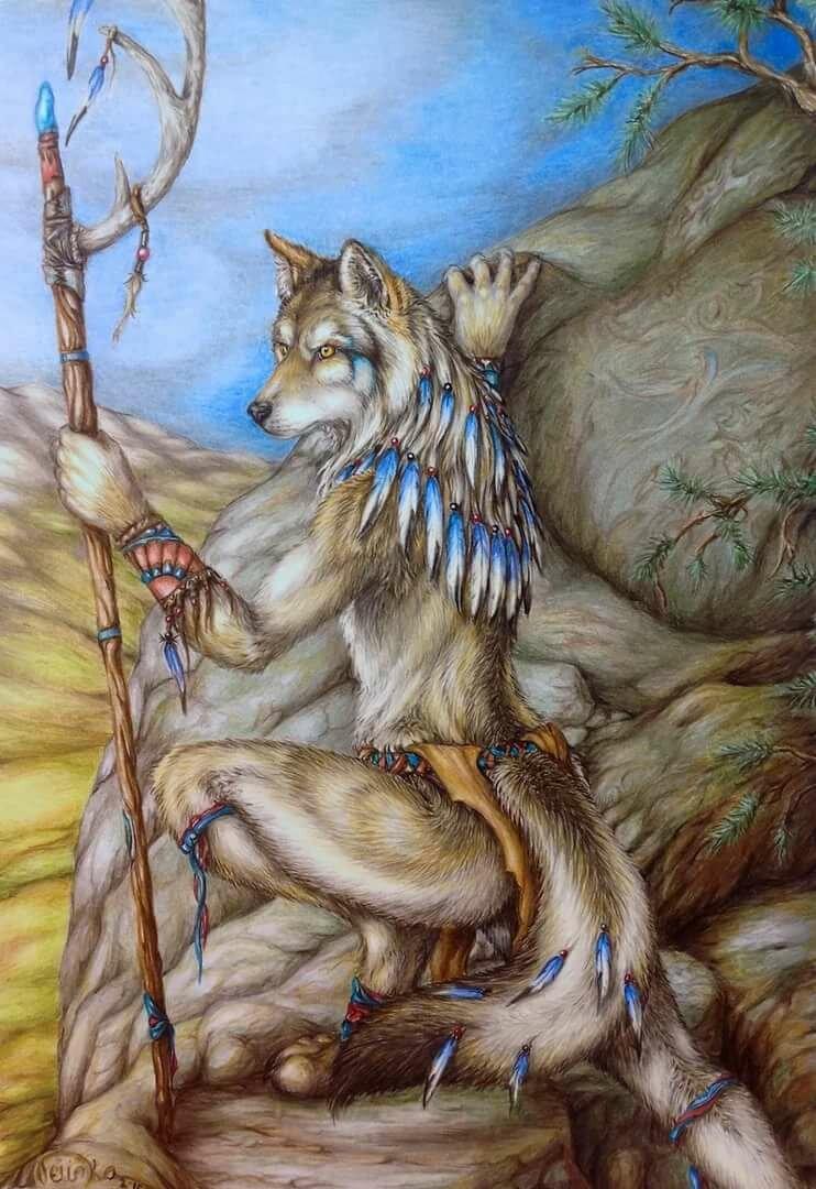 картинки шамана с волком утепления