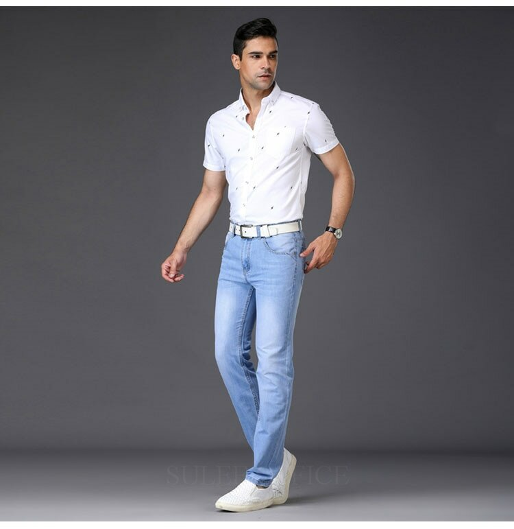 27ae8d371cf ... 2018 мужские джинсы Utr легкие тонкие модные брендовые джинсы Большие  продажи весна лето джинсы модные тонкие