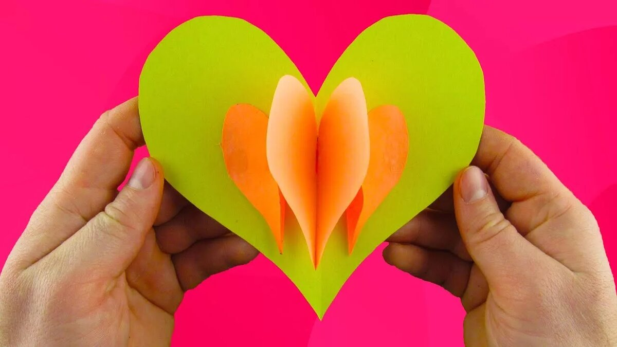 Открытка сердечко из рук видео