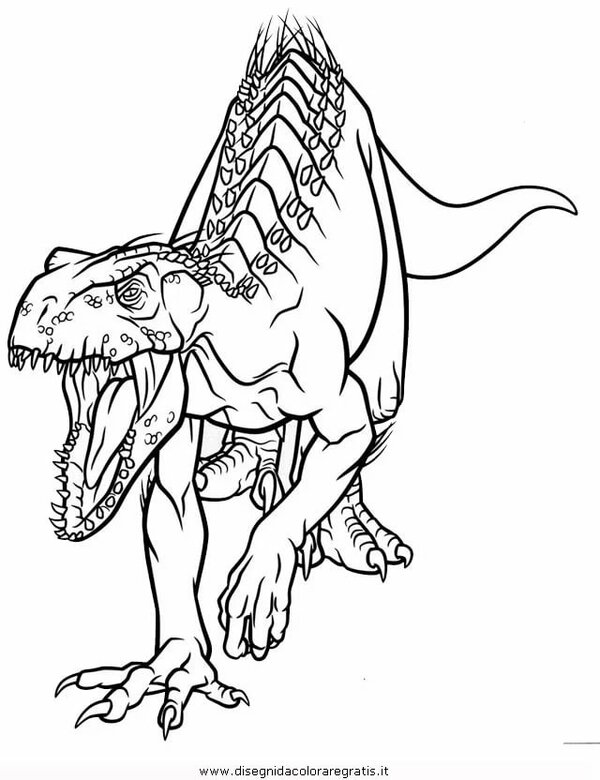 Disegno Indoraptor 1 Animali Da Colorare Card From User Mihail