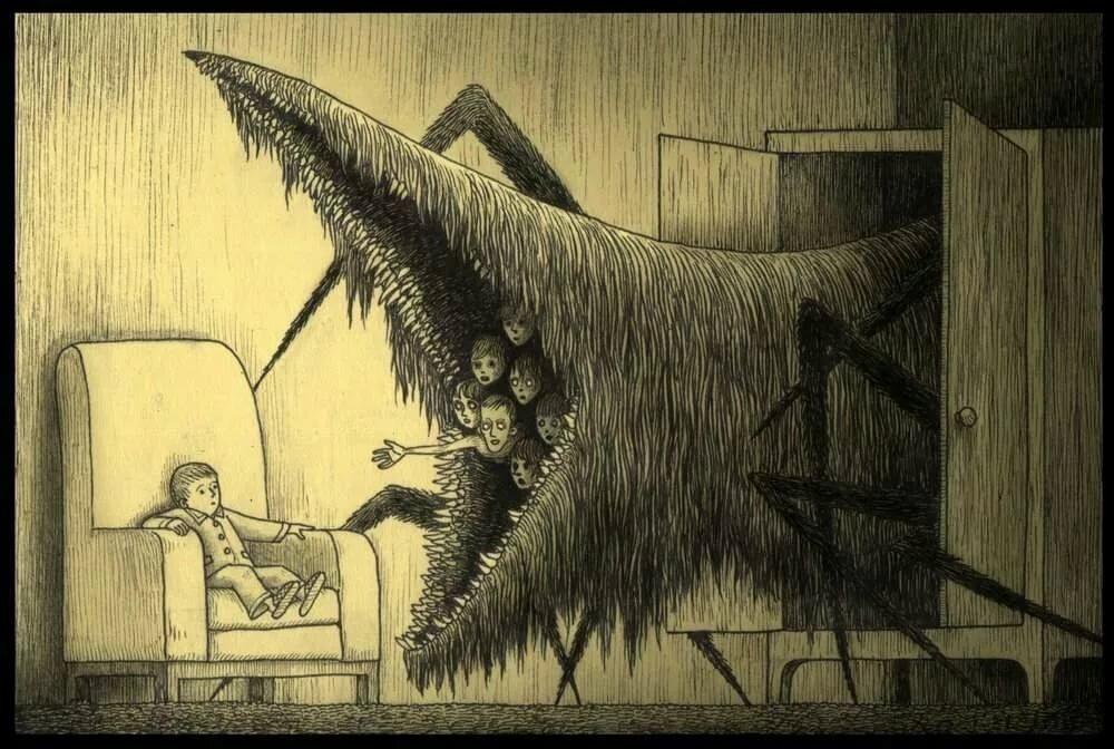 Картинка страхи из книги