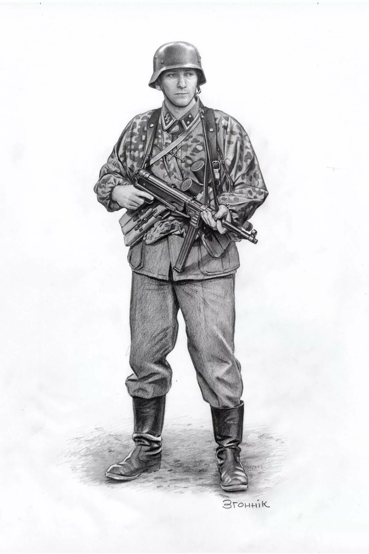 Картинки советских солдат 1941-1945 для срисовки