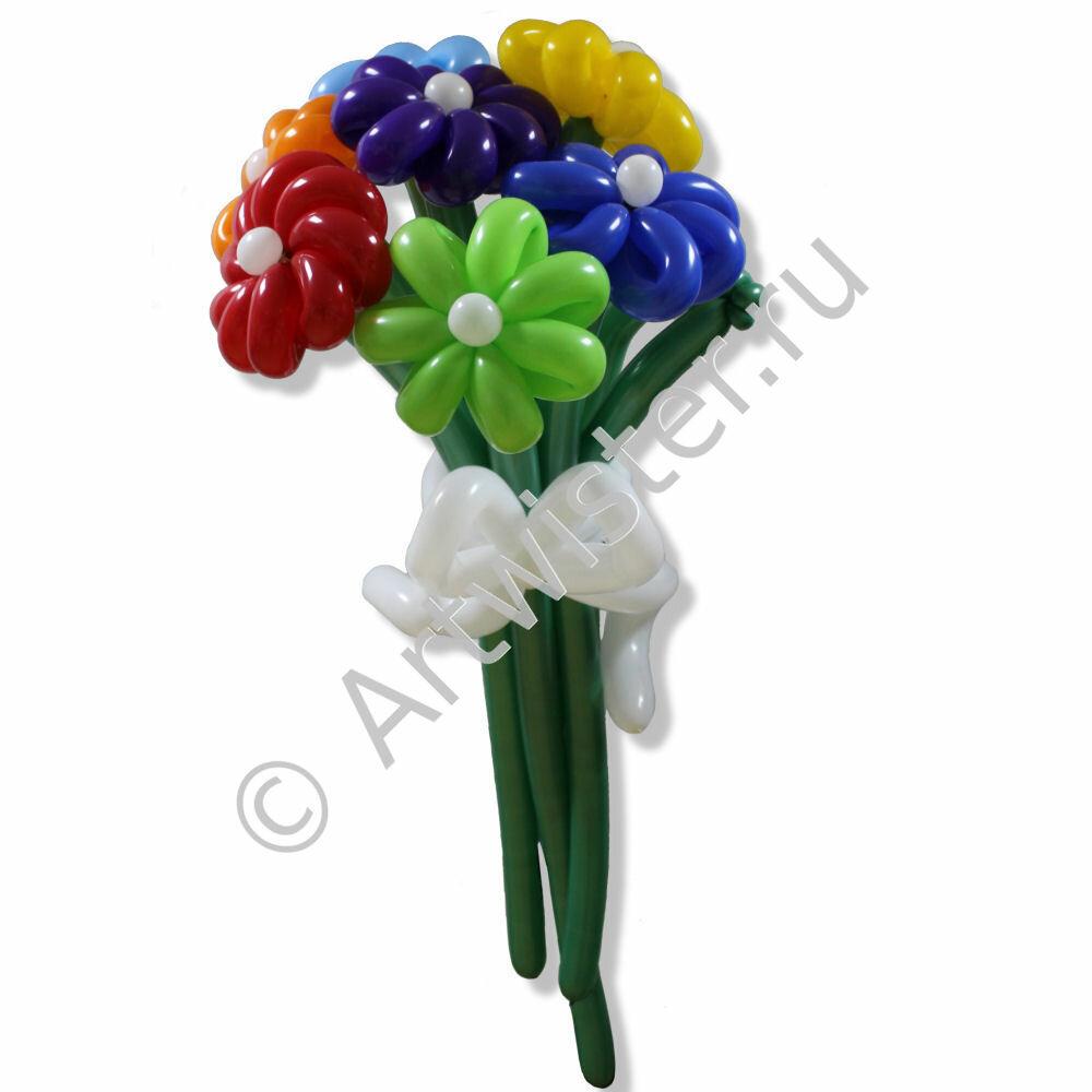 Составление свадебный букет шаров