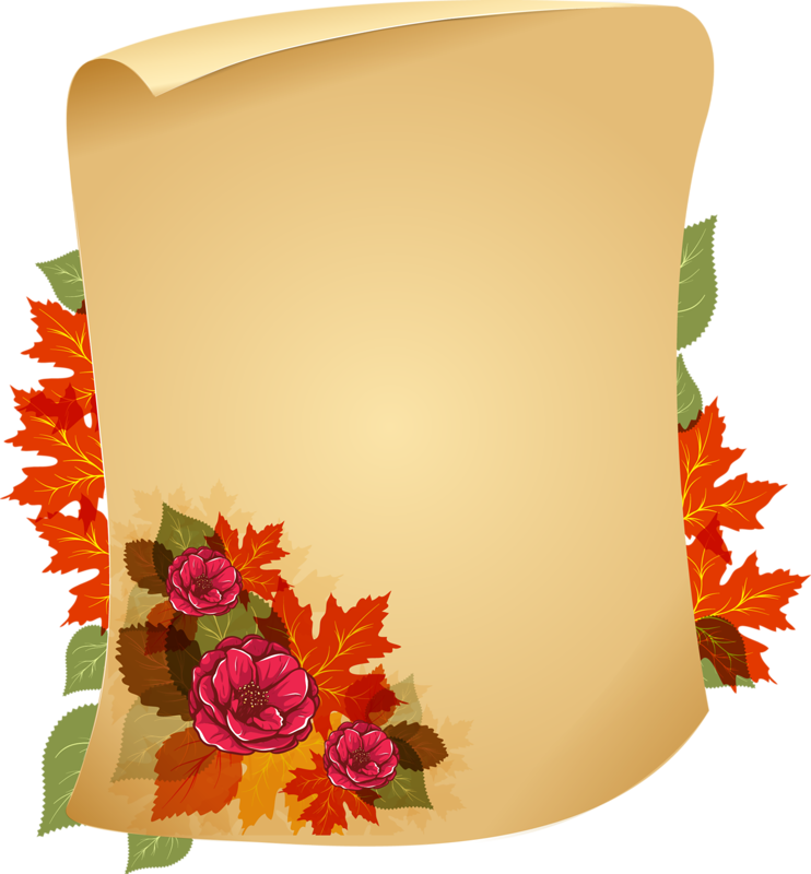 Картинка свиток с цветами