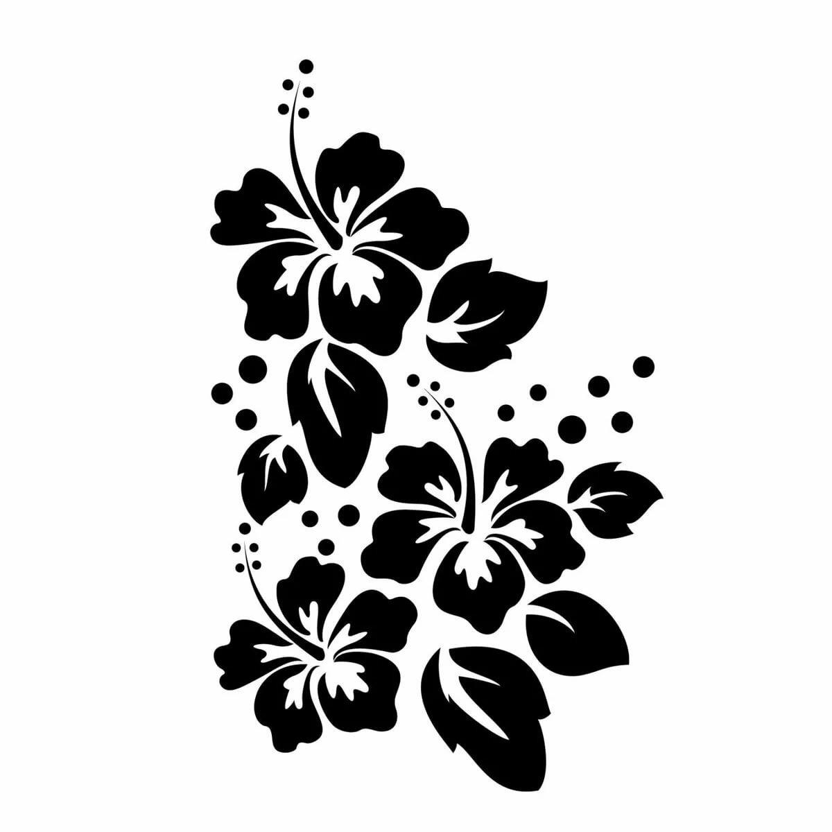 Цветы рисунки картинки трафареты, открытка