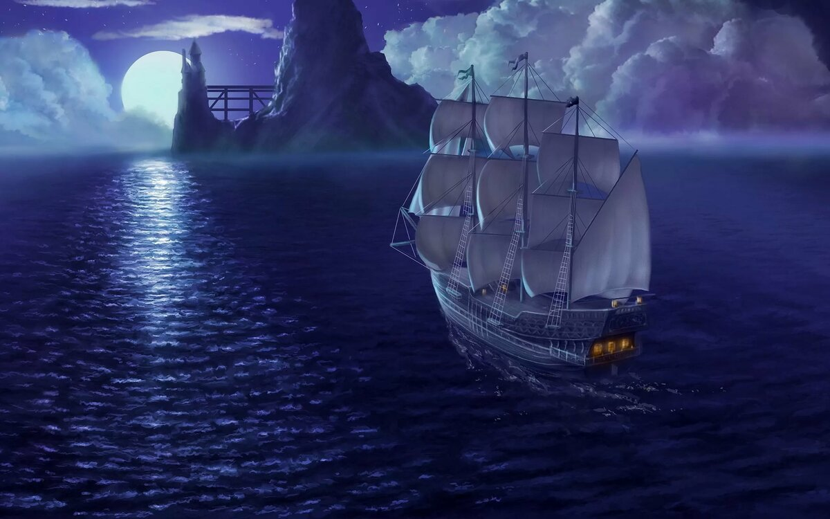 Красивые, картинки анимашки корабли