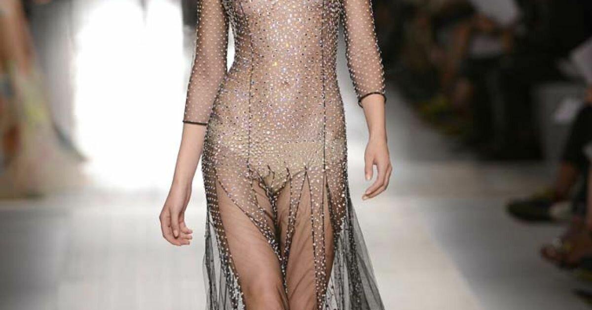 через прозрачное платье онлайн - 12