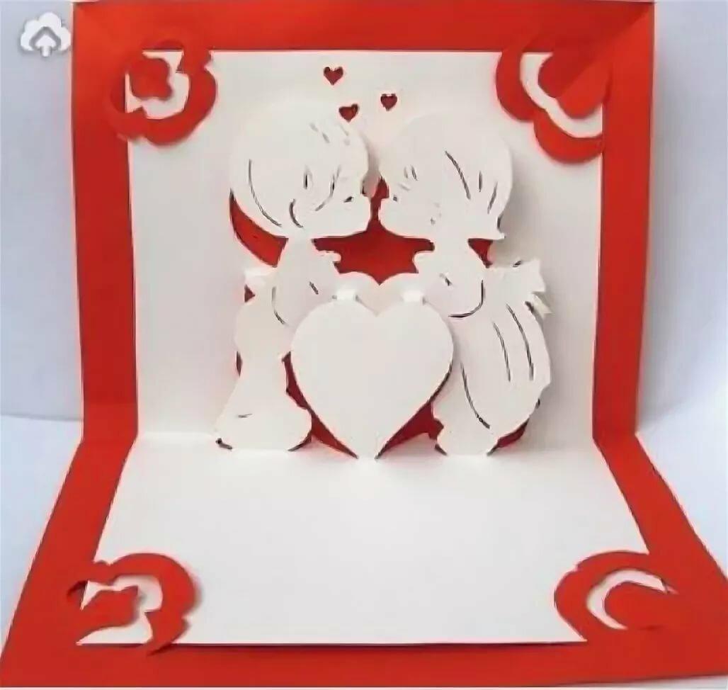Объемные открытки святой валентин