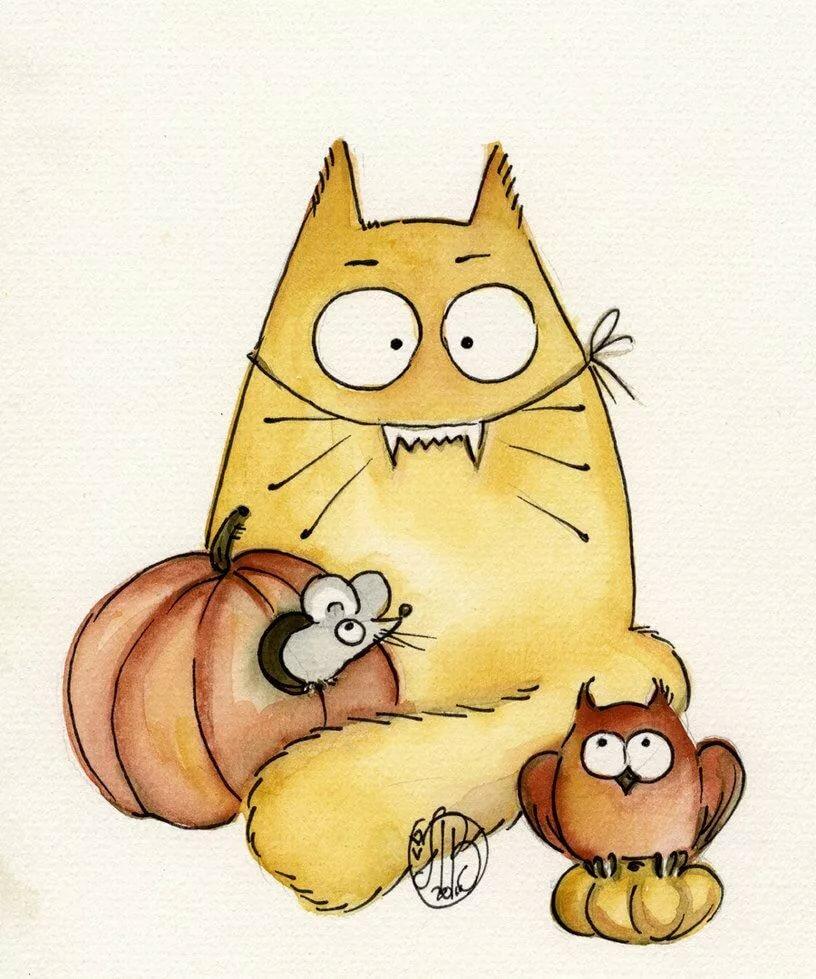 Картинка смешной мультяшный кот