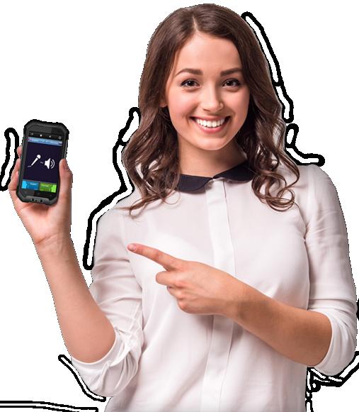 Девушка с мобильным телефоном пнг