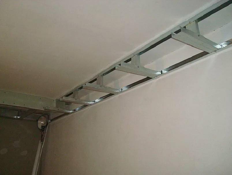 двухуровневый подвесной потолок своими руками пошаговая инструкция