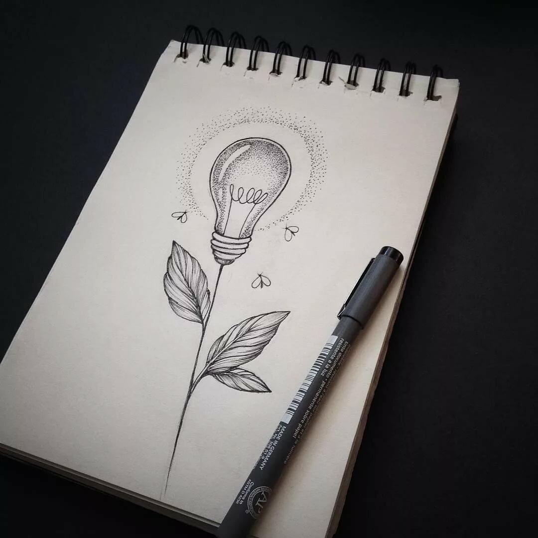 Рисунки для срисовки легкие и красивые картинки для скетчбука