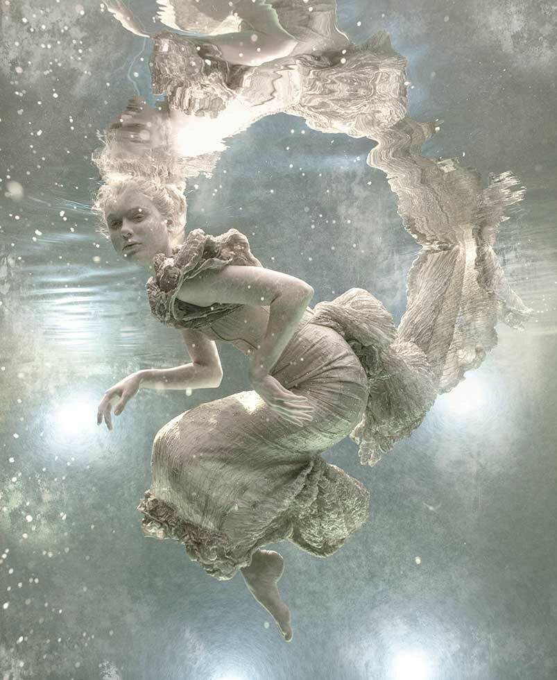 Working with children and babies underwater, Zena Holloway was inspired to retell the magical story of The Waterbabies, using underwater photography.