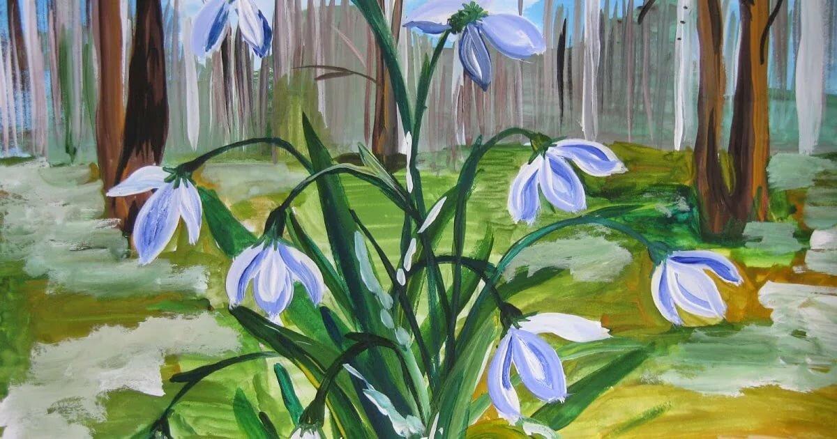 четыре опорные рисунки первоцветы весенние хочу поделиться
