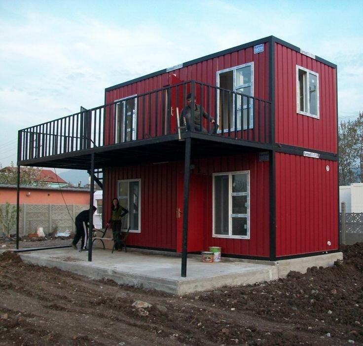 дом из контейнеров в сибири