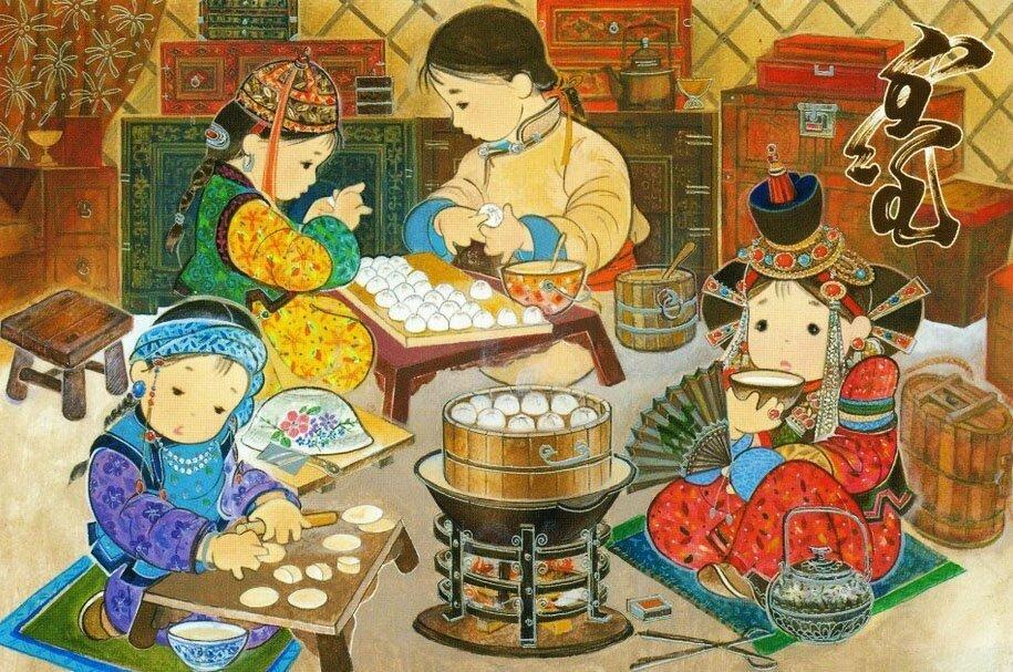 Открытки, открытка своими руками к празднику белого месяца