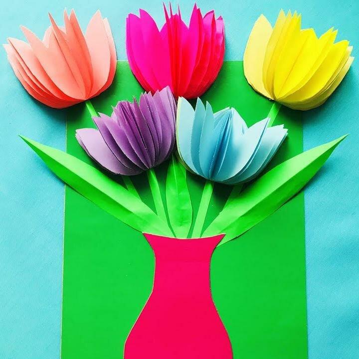 Красивые открытки для мамы на 8 марта своими руками