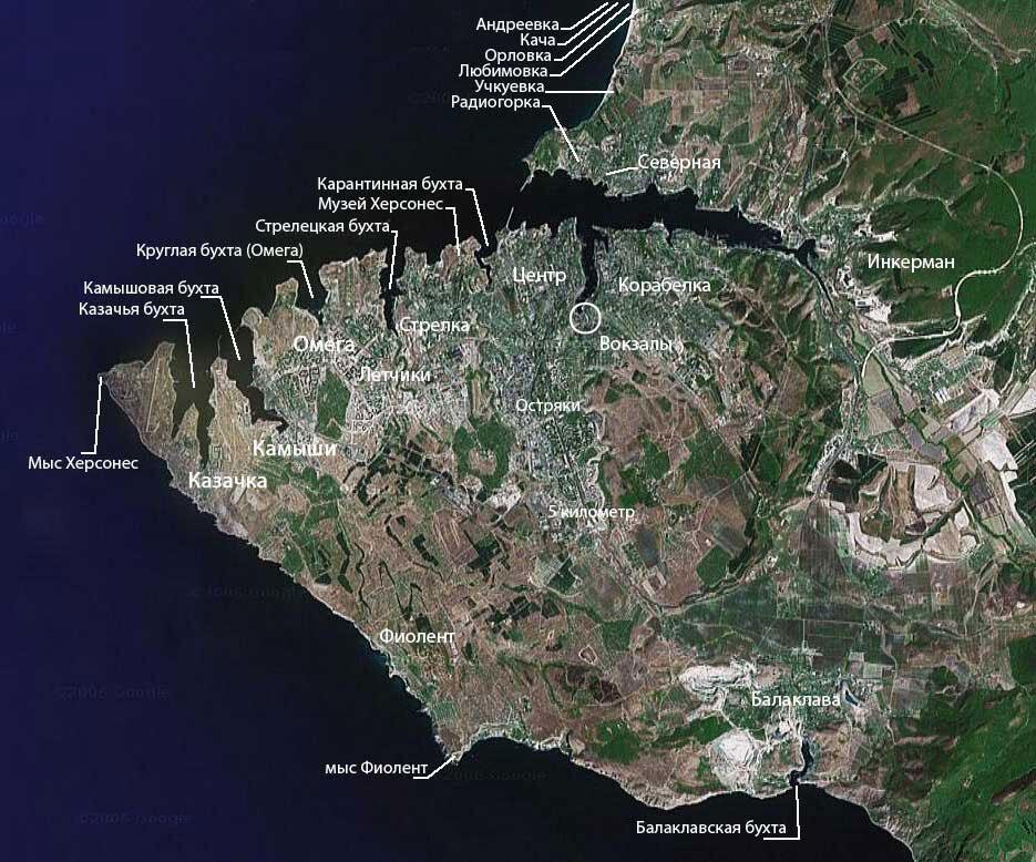севастополь на карте картинки красивые