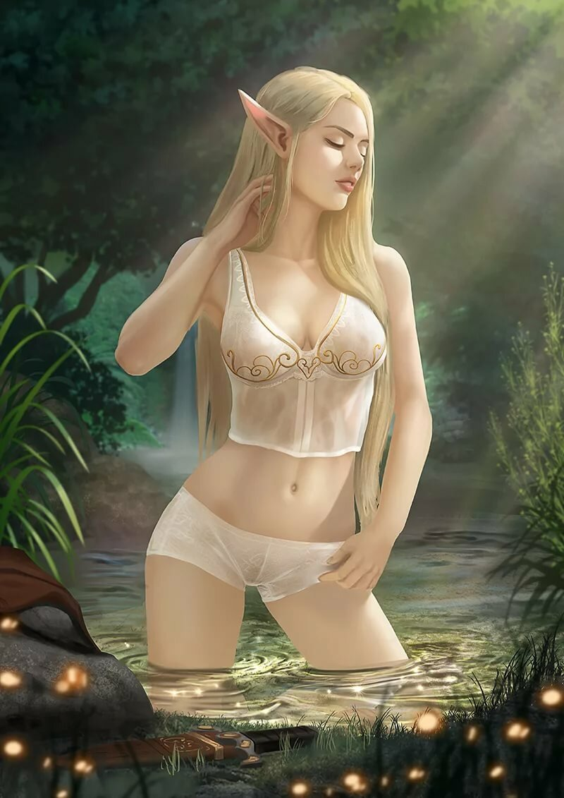 Extreme sexy elf nude art and drawings