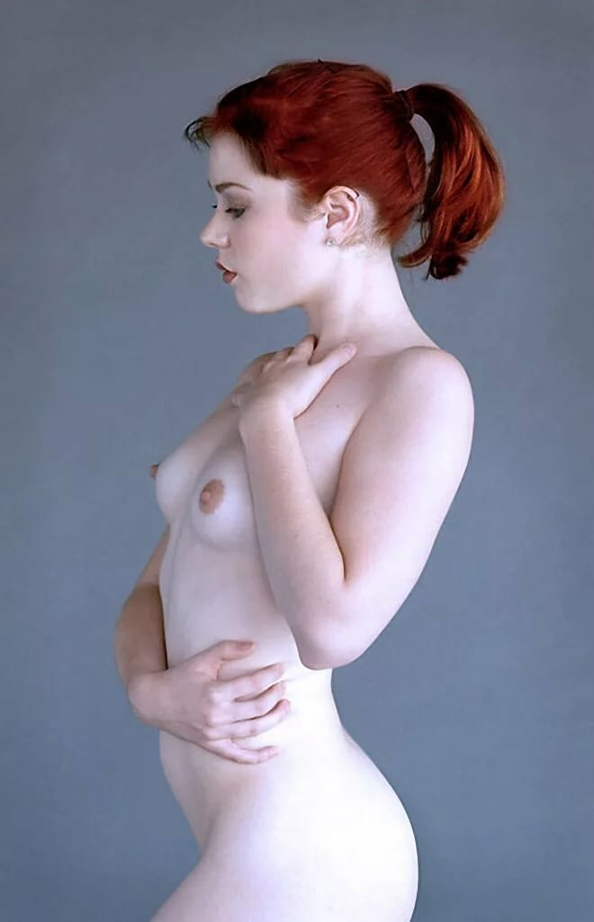 White haired girls nude — pic 12