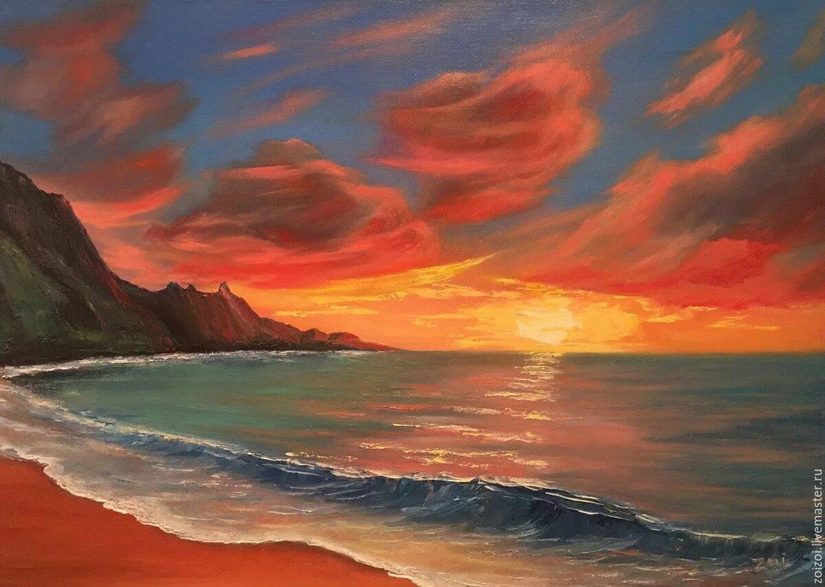 картина море закат центры анапы это