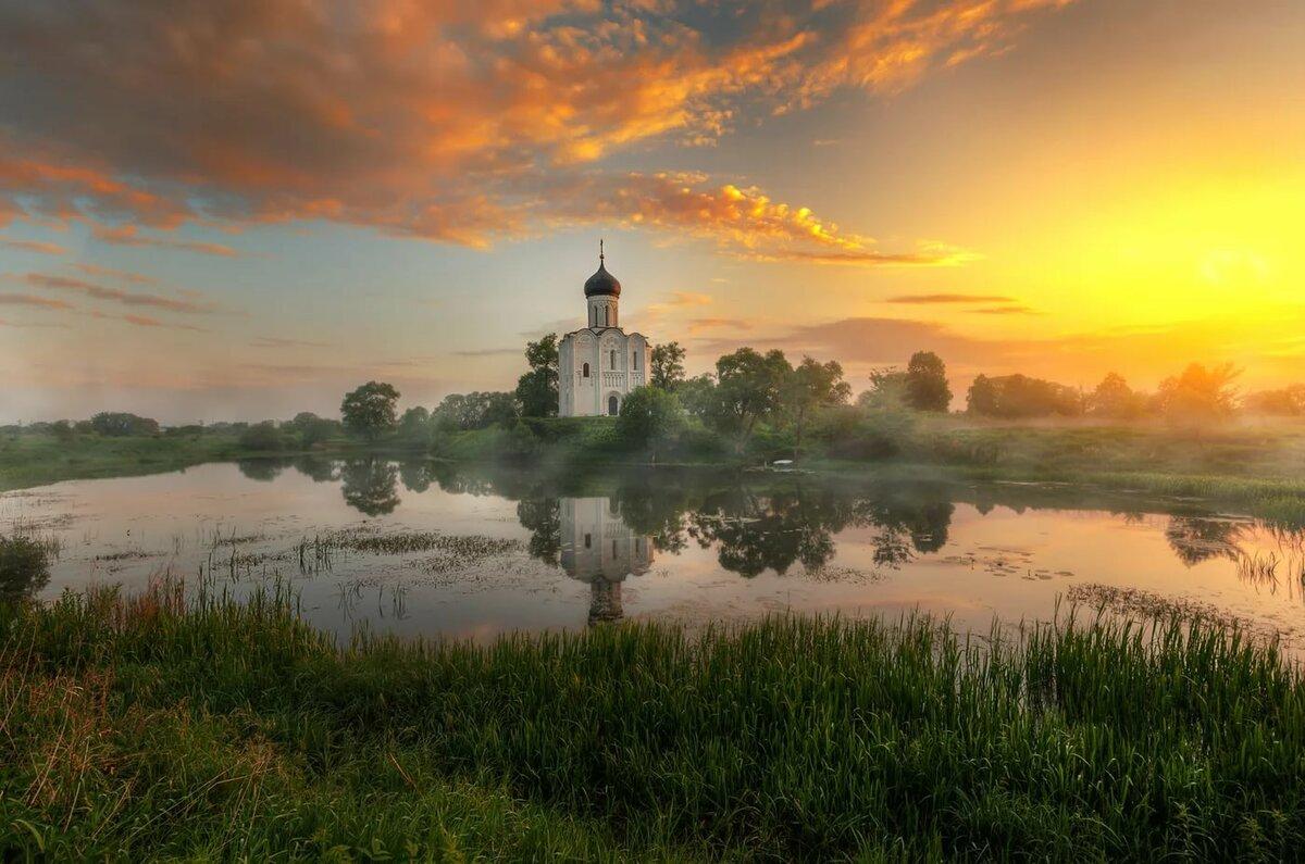 Картинки природы с церквями